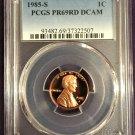 PCGS 1985-S Lincoln Cent PR69DCAM   #P0001