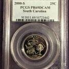 PCGS 2000-S South Carolina S Quarter PR69DCAM   #Q0007