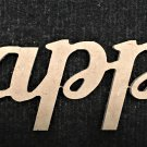 """12"""" x 31.3"""" 1/4"""" MDF Word """"happy"""" Cut Out Made in the USA"""