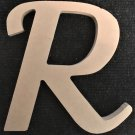 "6"" Tall - Fancy 1 - 1/2""Thick MDF Letter ""R"" Cut Out Made in the USA"