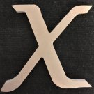 "6"" Tall - Fancy 1 - 1/2""Thick MDF Letter ""X"" Cut Out Made in the USA"