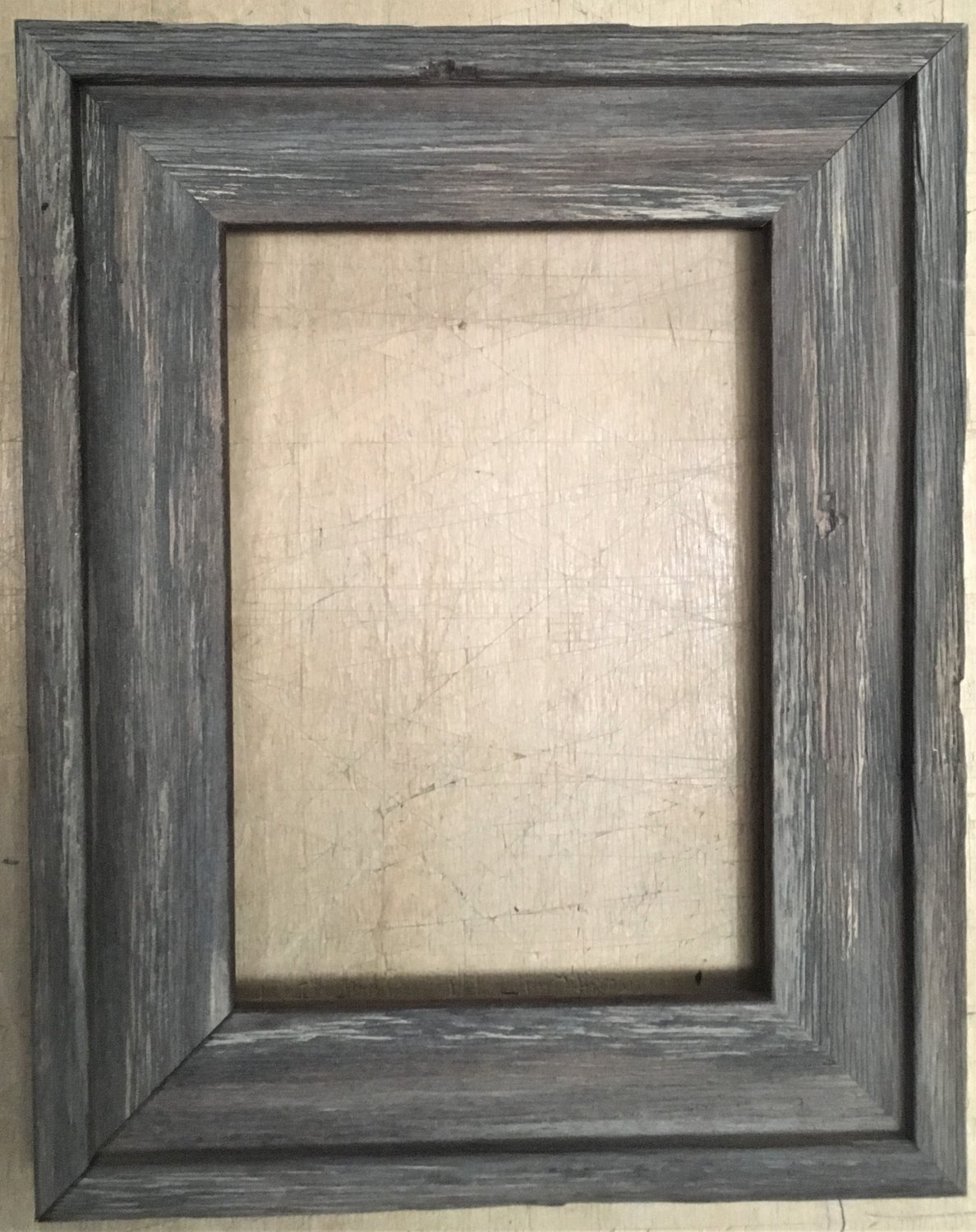 "F050 14 x 18 1-5/8"" Brown Cap Barnwood Picture Frame"