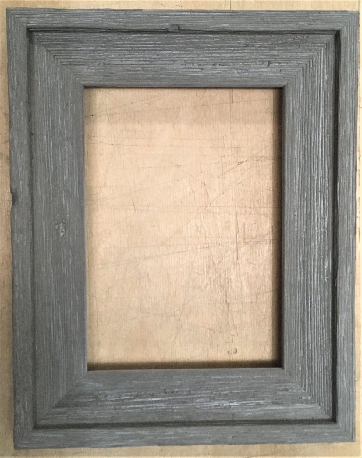 """F051 10 x 10 1-5/8"""" Gray Cap Barnwood Picture Frame"""