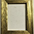 "F045-201 5 x 5 1-1/2"" Bright Gold Barnwood Picture Frame"