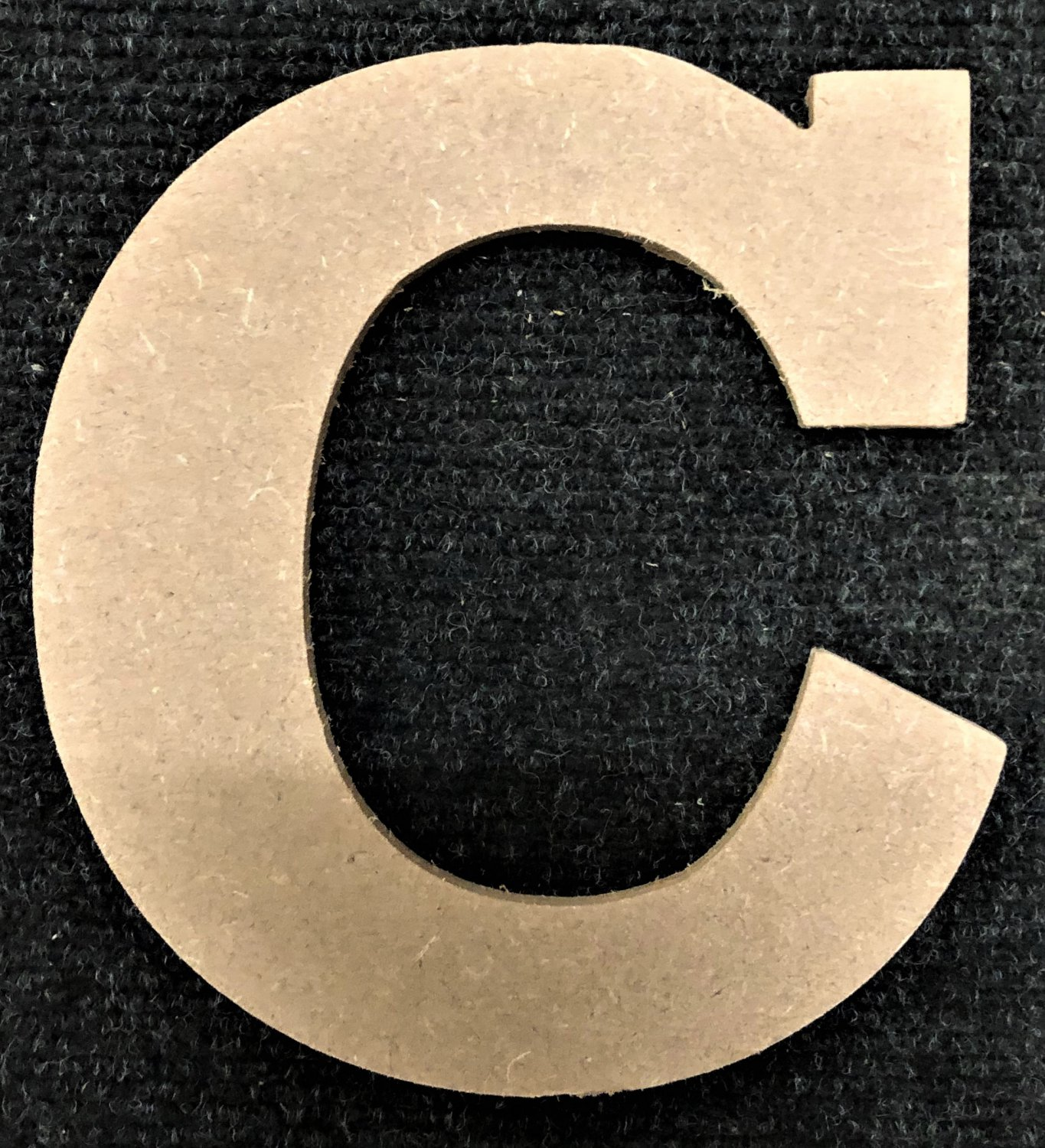 """6"""" Tall - Rockwell - 1/2""""Thick MDF Letter """"C"""" Cut Out Made in the USA"""