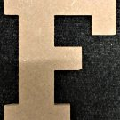 "6"" Tall - Rockwell - 1/2""Thick MDF Letter ""F"" Cut Out Made in the USA"