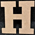"6"" Tall - Rockwell - 1/2""Thick MDF Letter ""H"" Cut Out Made in the USA"