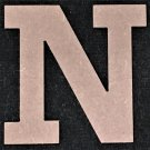 "6"" Tall - Rockwell - 1/2""Thick MDF Letter ""N"" Cut Out Made in the USA"