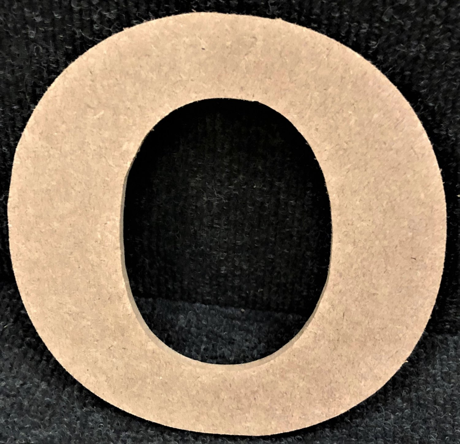 """6"""" Tall - Rockwell - 1/2""""Thick MDF Letter """"O"""" Cut Out Made in the USA"""