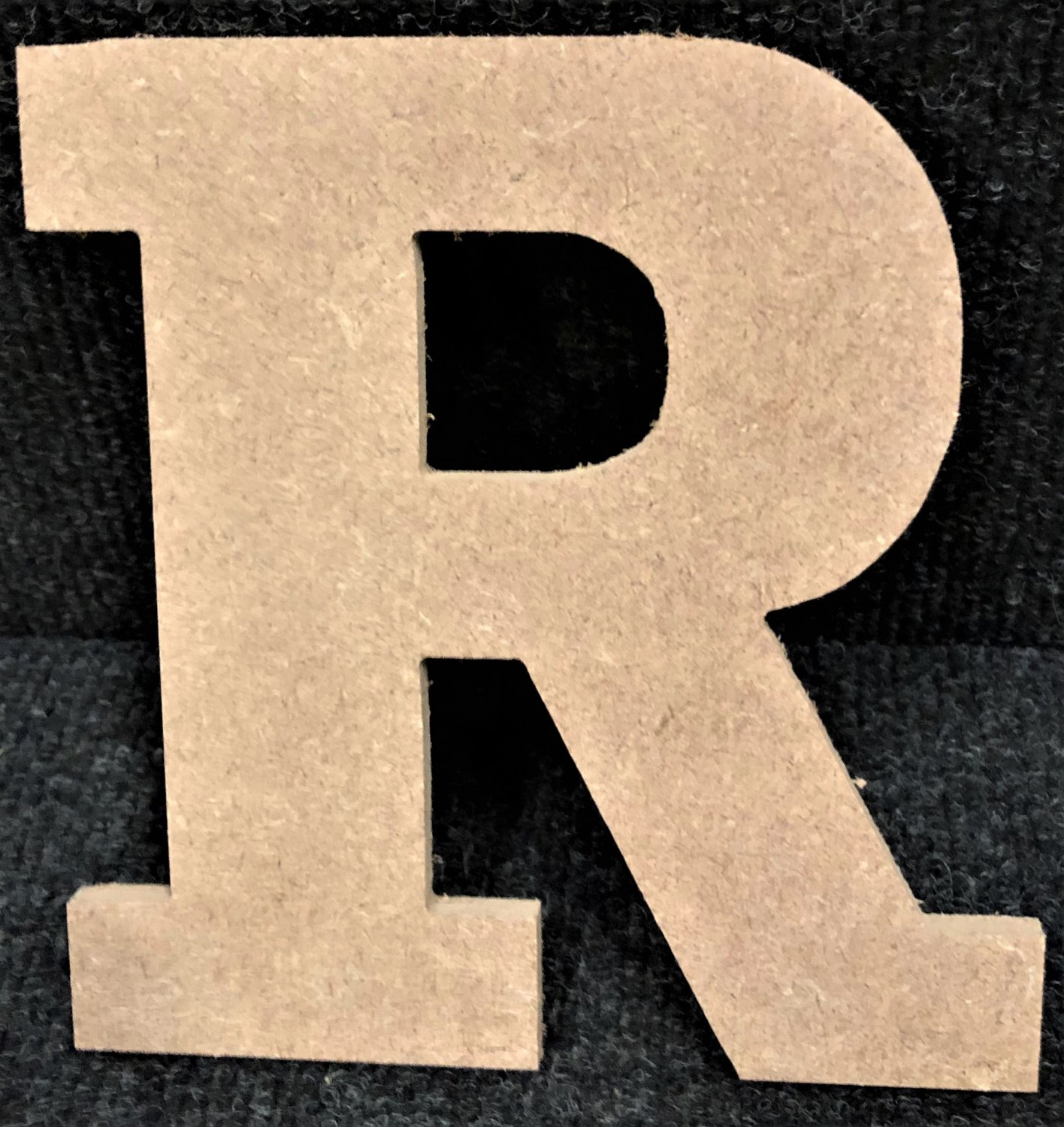 """6"""" Tall - Rockwell - 1/2""""Thick MDF Letter """"R"""" Cut Out Made in the USA"""