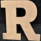 "6"" Tall - Rockwell - 1/2""Thick MDF Letter ""R"" Cut Out Made in the USA"