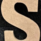 """6"""" Tall - Rockwell - 1/2""""Thick MDF Letter """"S"""" Cut Out Made in the USA"""