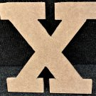 "6"" Tall - Rockwell - 1/2""Thick MDF Letter ""X"" Cut Out Made in the USA"