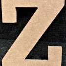 "6"" Tall - Rockwell - 1/2""Thick MDF Letter ""Z"" Cut Out Made in the USA"