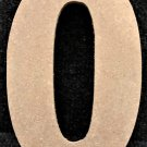 "6"" Tall - Rockwell - 1/2""Thick MDF Number ""0"" Cut Out Made in the USA"