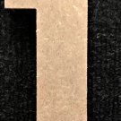 "6"" Tall - Rockwell - 1/2""Thick MDF Number ""1"" Cut Out Made in the USA"