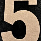 """6"""" Tall - Rockwell - 1/2""""Thick MDF Number """"5"""" Cut Out Made in the USA"""