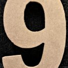 "6"" Tall - Rockwell - 1/2""Thick MDF Number ""9"" Cut Out Made in the USA"
