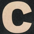 """6"""" Tall - Arial Black - 1/2""""Thick MDF Letter """"C"""" Cut Out Made in the USA"""