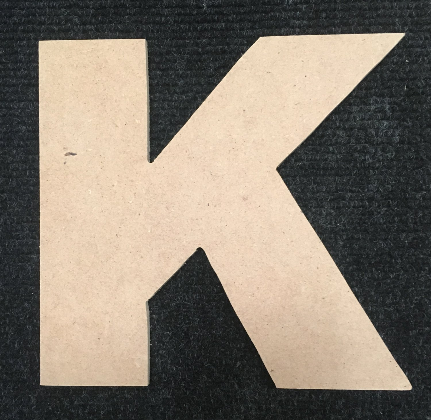 """6"""" Tall - Arial Black - 1/2""""Thick MDF Letter """"K"""" Cut Out Made in the USA"""
