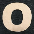 "6"" Tall - Arial Black - 1/2""Thick MDF Letter ""O"" Cut Out Made in the USA"