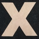 """6"""" Tall - Arial Black - 1/2""""Thick MDF Letter """"X"""" Cut Out Made in the USA"""