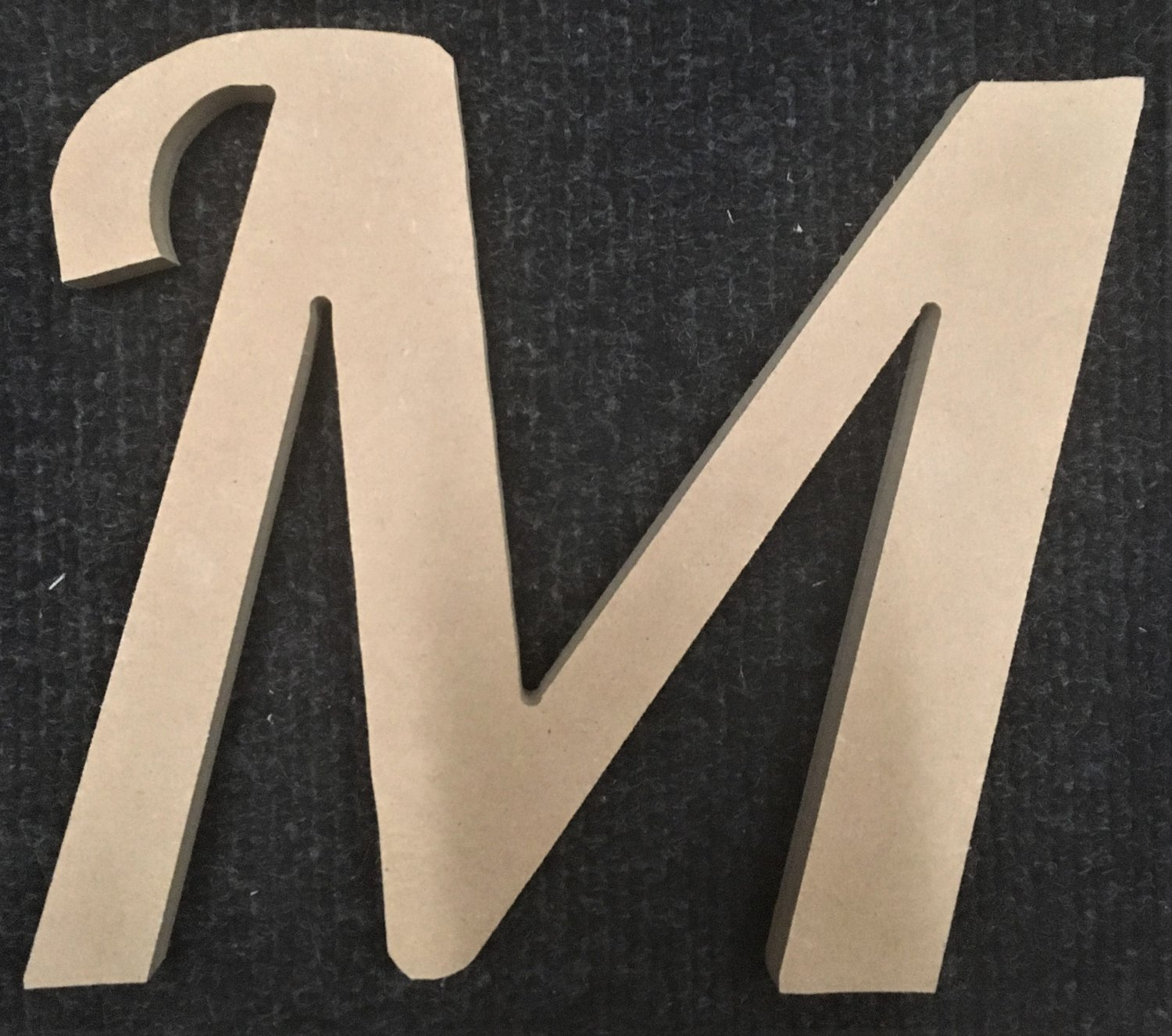 """10"""" Tall - Fancy 1 - 1/2""""Thick MDF Letter """"M"""" Cut Out Made in the USA"""