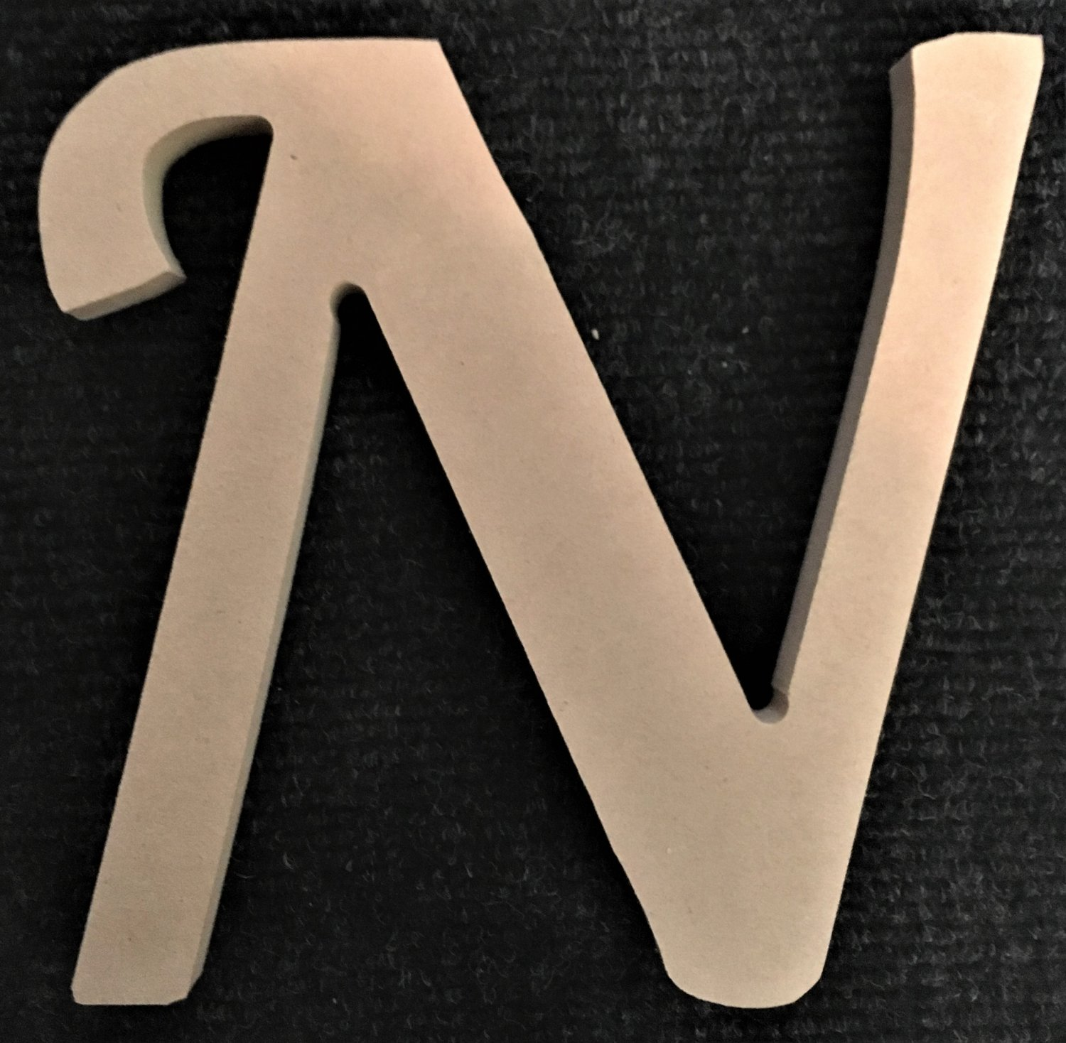 "10"" Tall - Fancy 1 - 1/2""Thick MDF Letter ""N"" Cut Out Made in the USA"