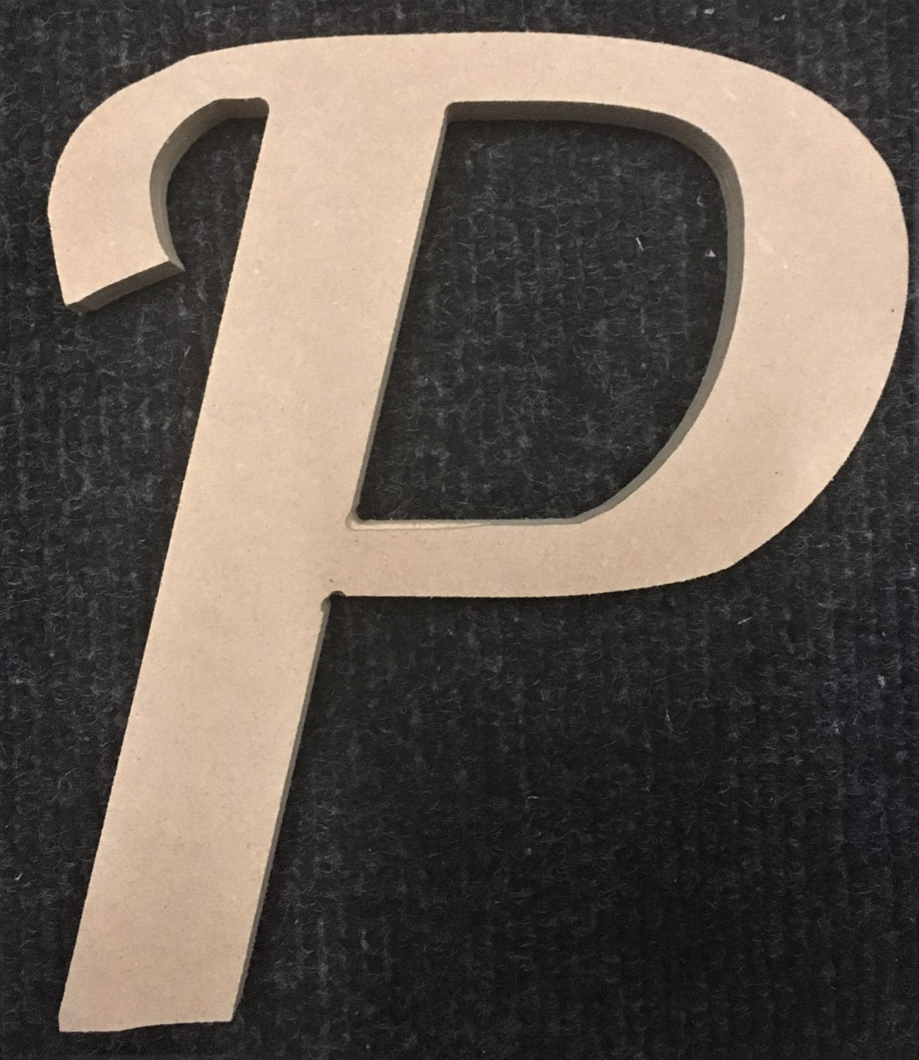 """10"""" Tall - Fancy 1 - 1/2""""Thick MDF Letter """"P"""" Cut Out Made in the USA"""
