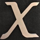 "10"" Tall - Fancy 1 - 1/2""Thick MDF Letter ""X"" Cut Out Made in the USA"