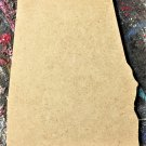 """6"""" x 3.76"""" - Alabama - 1/4""""Thick MDF Cut Out Made in the USA"""