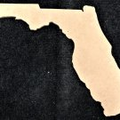 "5.5"" x 6"" - Florida - 1/4""Thick MDF Cut Out Made in the USA"
