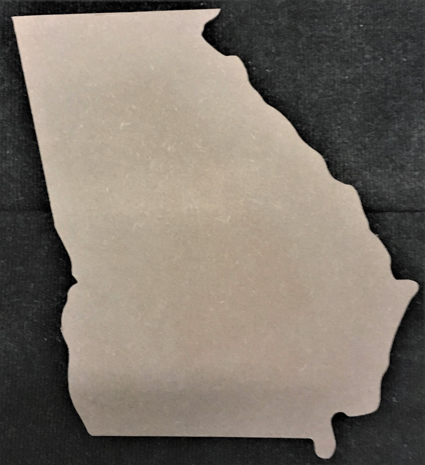 "12"" x 10.4"" - Georgia - 1/4""Thick MDF Cut Out Made in the USA"