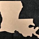 "5.2"" x 6"" - Louisiana - 1/4""Thick MDF Cut Out Made in the USA"