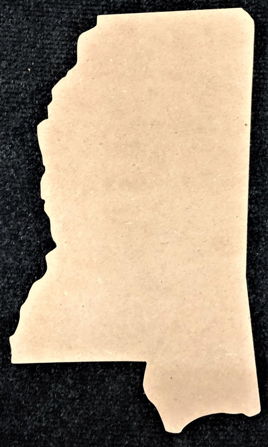 """12"""" x 7.3"""" - MIssissippi - 1/4""""Thick MDF Cut Out Made in the USA"""
