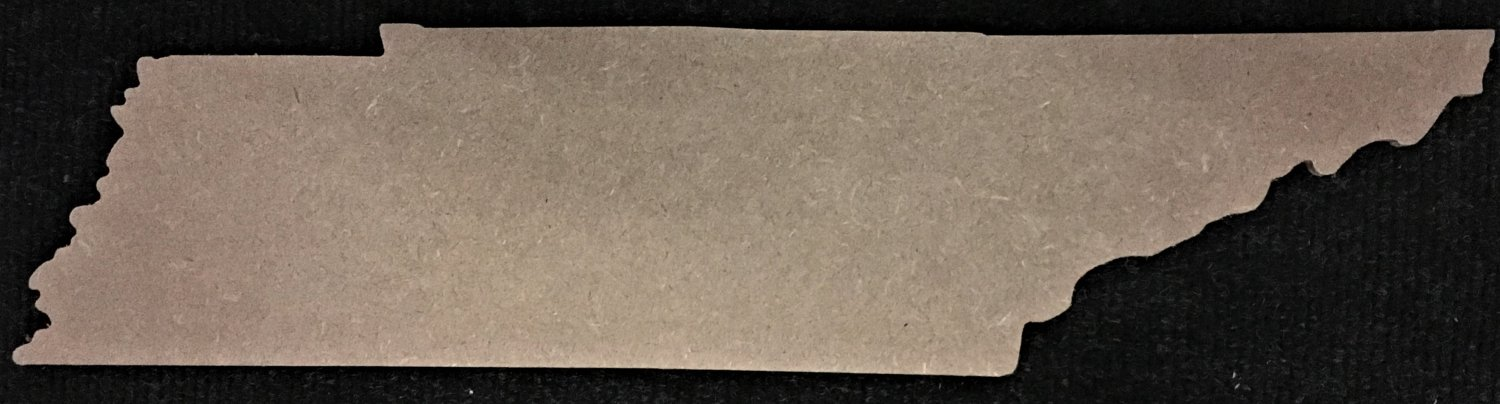 "1.4"" x 6"" - Tennessee - 1/4""Thick MDF Cut Out Made in the USA"