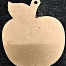 """6"""" x 5.4"""" - Apple - 1/4""""Thick MDF Cut Out Made in the USA"""