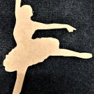 """6"""" x 4.3"""" - Ballerina Style 3 - 1/4""""Thick MDF Cut Out Made in the USA"""