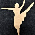"""12"""" x 9.5"""" - Ballerina Style 4 - 1/4""""Thick MDF Cut Out Made in the USA"""