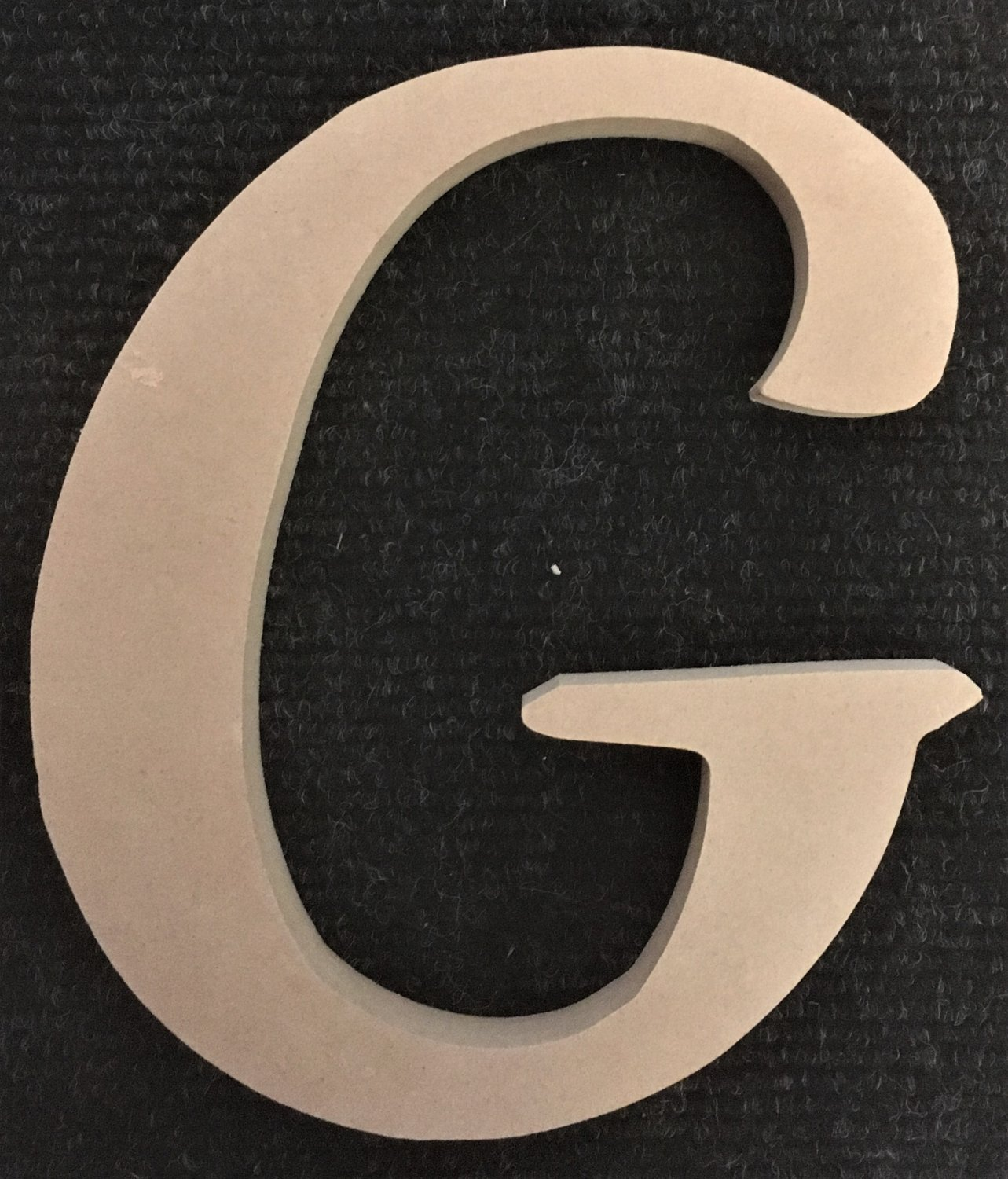 """12"""" Tall - Fancy 1 - 1/2""""Thick MDF Letter """"G"""" Cut Out Made in the USA"""