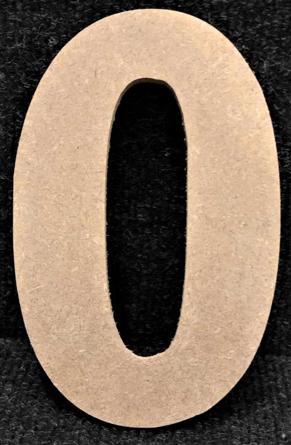 """10"""" Tall - Rockwell - 1/2""""Thick MDF Number """"0"""" Cut Out Made in the USA"""