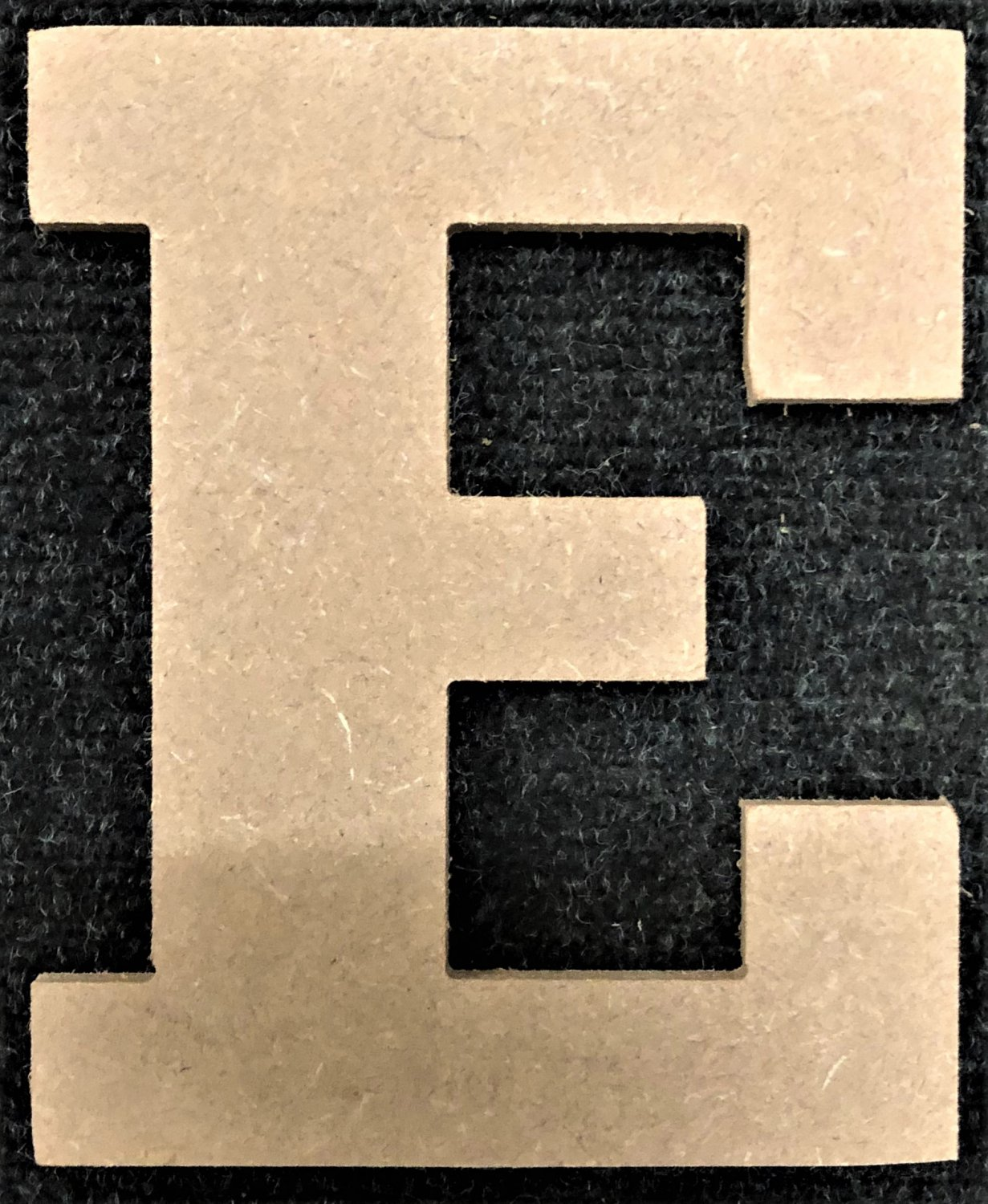 "10"" Tall - Rockwell - 1/2""Thick MDF Letter ""E"" Cut Out Made in the USA"