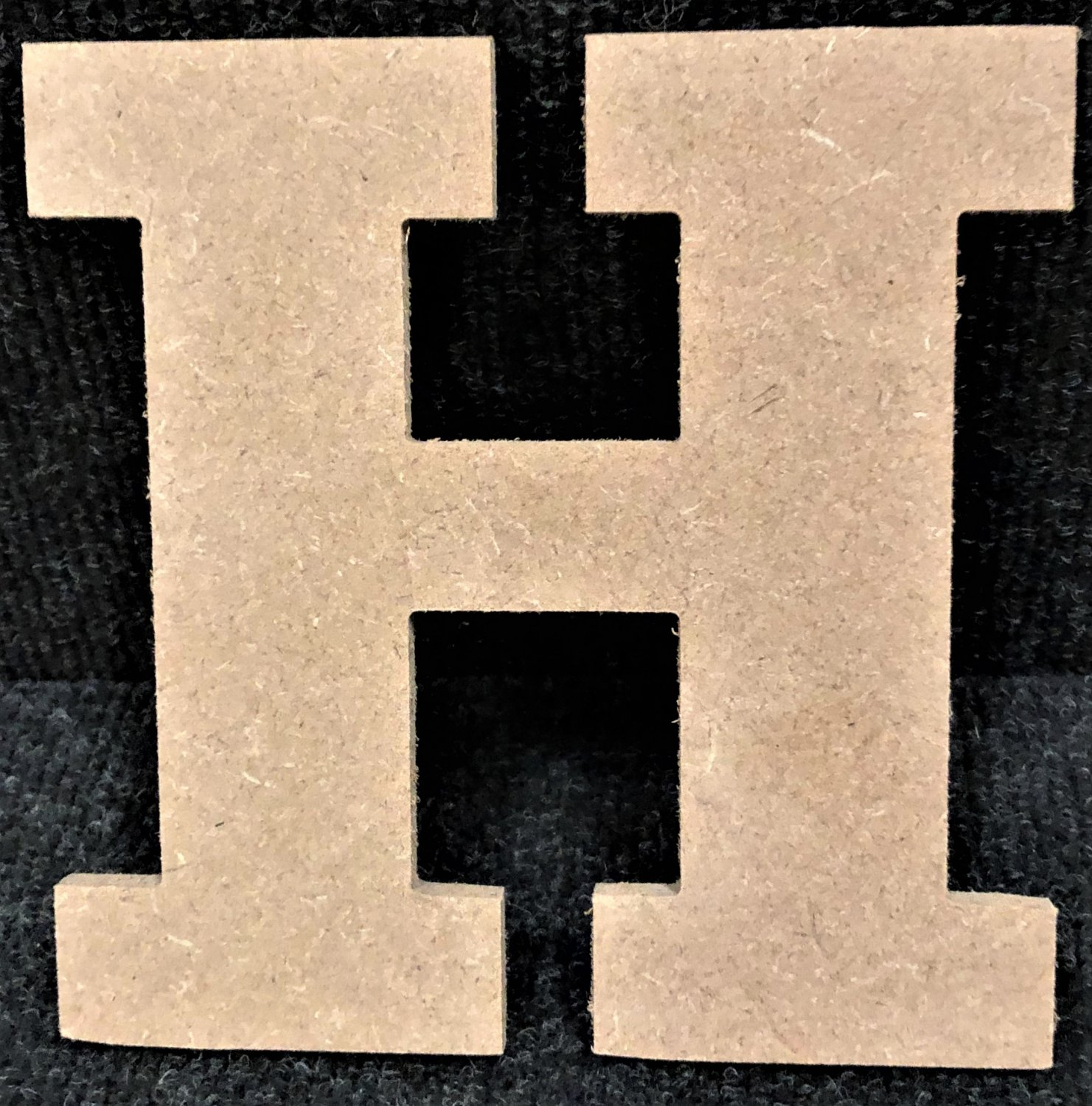 """10"""" Tall - Rockwell - 1/2""""Thick MDF Letter """"H"""" Cut Out Made in the USA"""