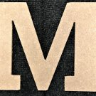 "10"" Tall - Rockwell - 1/2""Thick MDF Letter ""M"" Cut Out Made in the USA"
