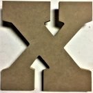 "10"" Tall - Varsity - 1/2""Thick MDF Letter ""X"" Cut Out Made in the USA"