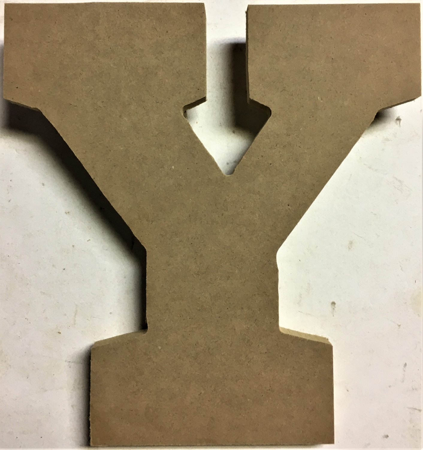 "10"" Tall - Varsity - 1/2""Thick MDF Letter ""Y"" Cut Out Made in the USA"