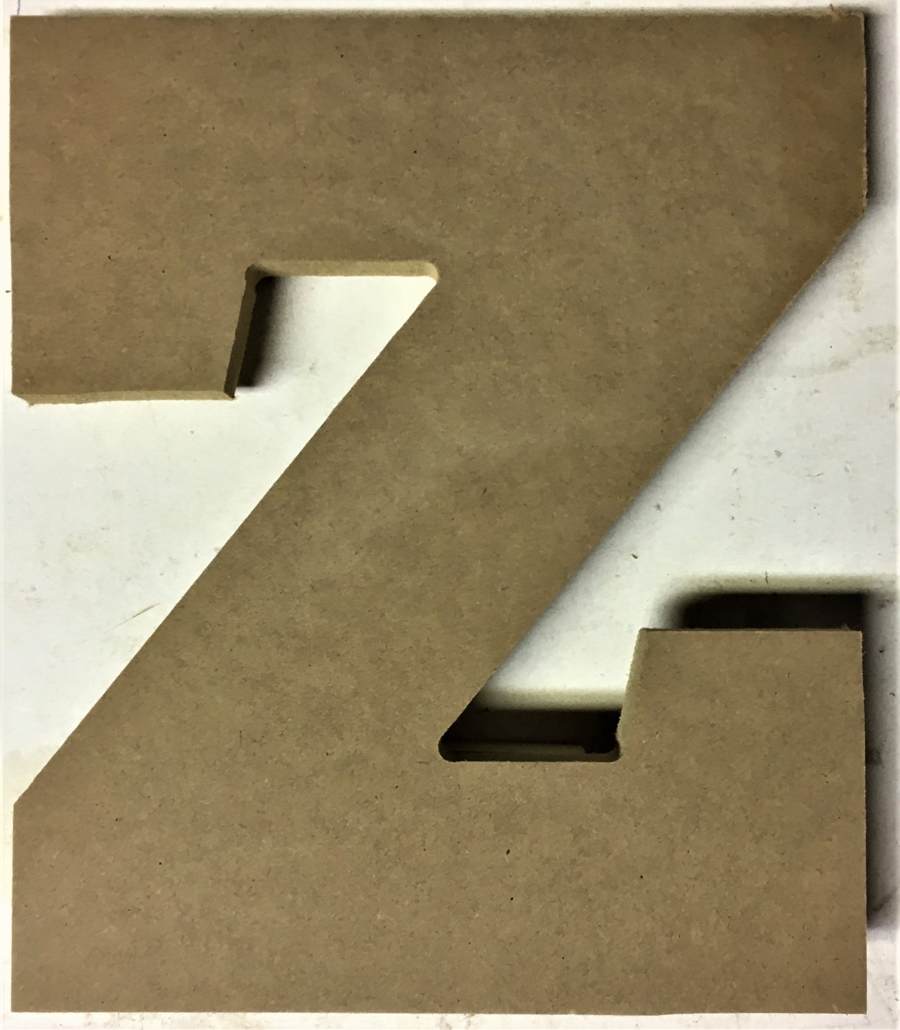 "10"" Tall - Varsity - 1/2""Thick MDF Letter ""Z"" Cut Out Made in the USA"