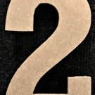 """12"""" Tall - Rockwell - 1/2""""Thick MDF Number """"2"""" Cut Out Made in the USA"""