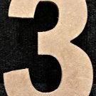 """12"""" Tall - Rockwell - 1/2""""Thick MDF Number """"3"""" Cut Out Made in the USA"""
