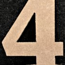 """12"""" Tall - Rockwell - 1/2""""Thick MDF Number """"4"""" Cut Out Made in the USA"""